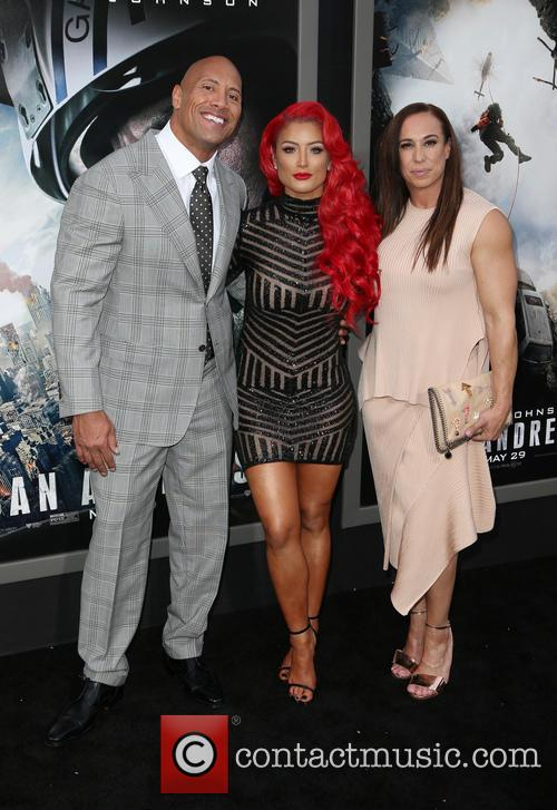 Wayne 'the Rock' Johnson, Danny Garcia and Eva Marie 4