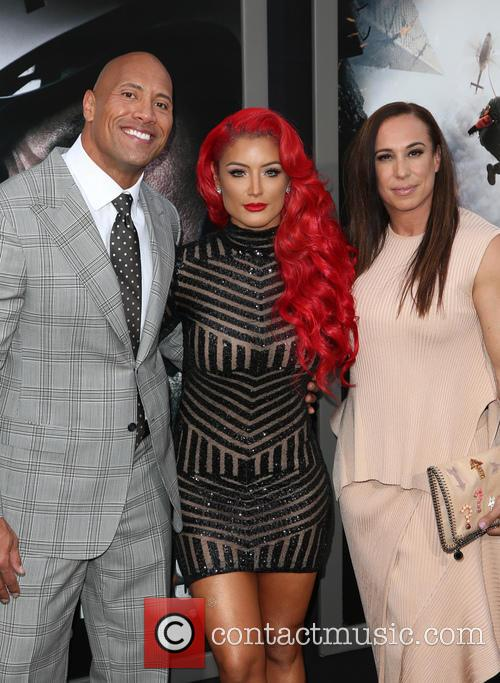 Wayne 'the Rock' Johnson, Danny Garcia and Eva Marie 1