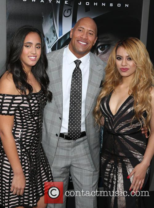 Alexandra Johnson, Dwayne 'the Rock' Johnson and Dinah-jane Hansen Of Fifth Harmony 5