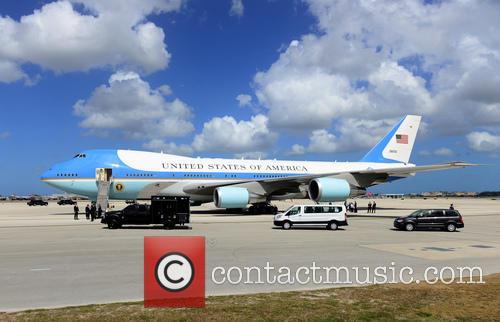 U.S. President Barack Obama arrives at Miami International...