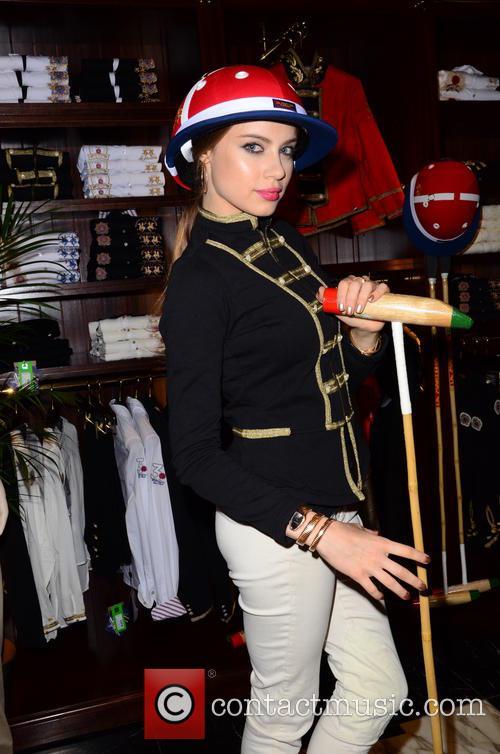 Xenia Tchoumitcheva having a blast at the La...
