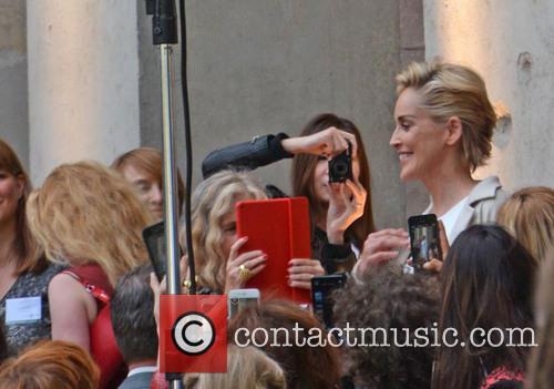 Sharon Stone at a PR event at Elisabethkirche...