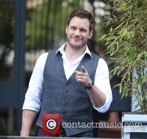 Chris Pratt outside ITV Studios
