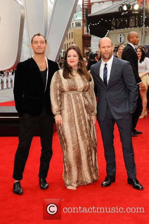 Jude Law, Melissa Mccarthy and Jason Statham 1