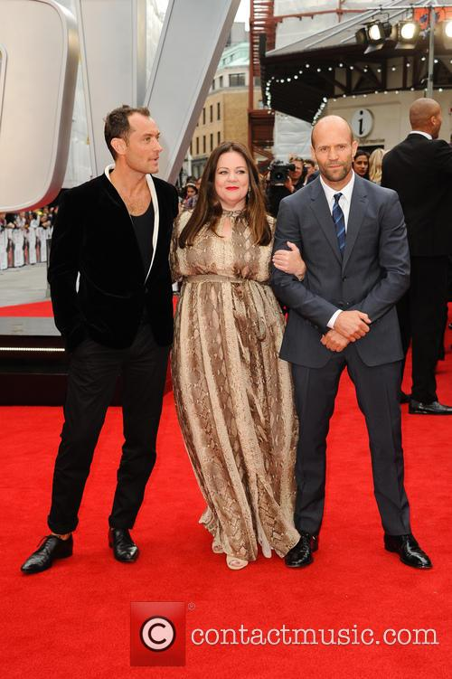 Jude Law, Melissa Mccarthy and Jason Statham 7