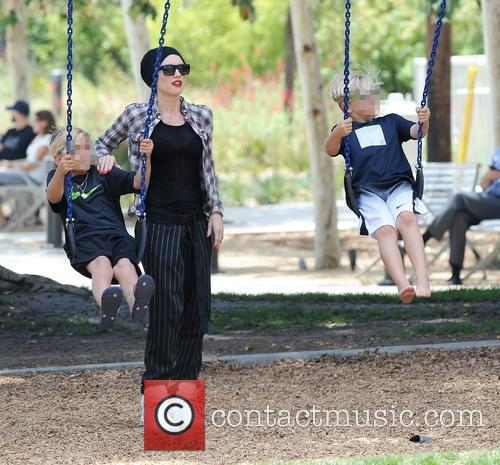Gwen Stefani, Kingston Rossdale and Zuma Rossdale 4