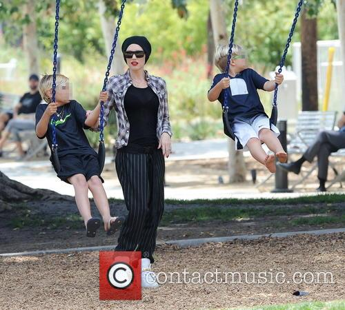 Gwen Stefani, Kingston Rossdale and Zuma Rossdale 5