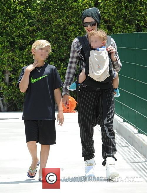 Gwen Stefani, Kingston Rossdale and Zuma Rossdale 11