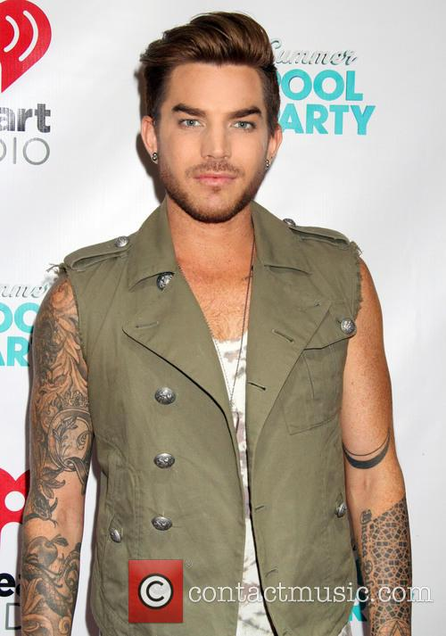 Adam Lambert at the iHeartRadio Summer Pool Party
