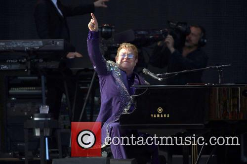 Elton John performs live in concert