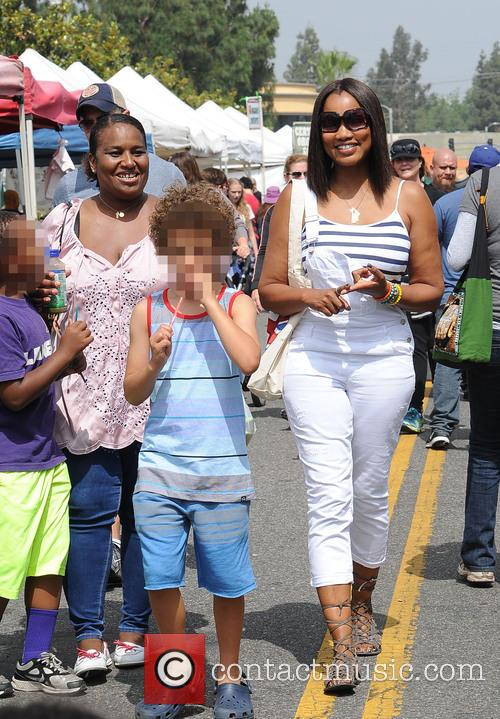 Garcelle Beauvais goes to the Farmers Market