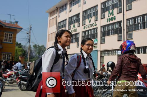 School re-opens a month after Nepal was devastated...