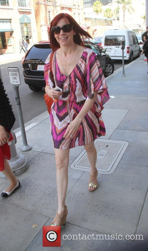 Carrie Preston goes shopping in Beverly Hills