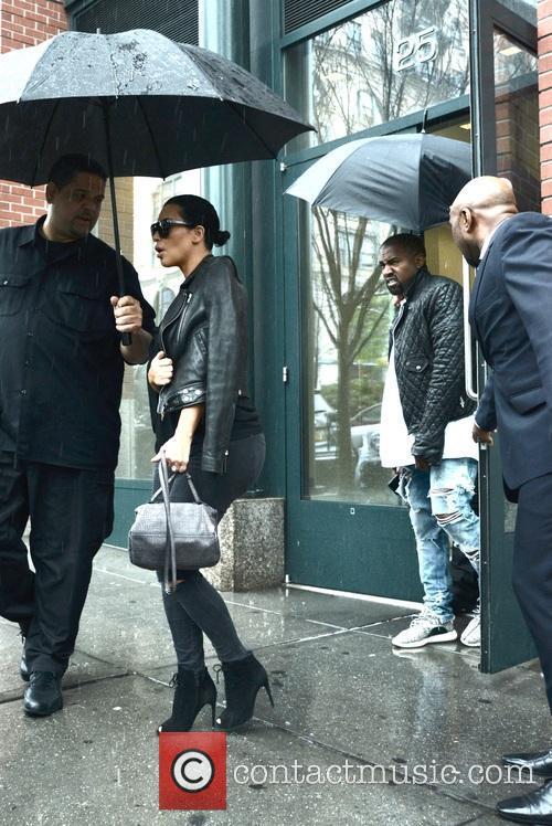 Kim Kardashian and Kanye West in New York