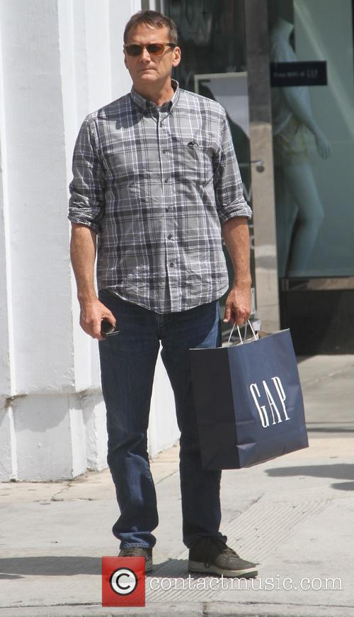 Michael Hitchcock goes shopping at GAP in Beverly...