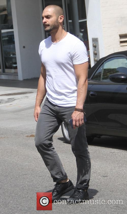 Michael Mando goes shopping in Beverly Hills
