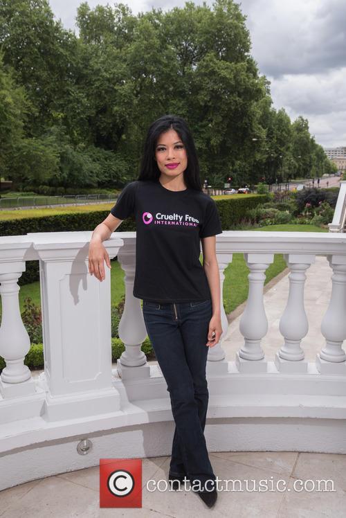 Vanessa Mae promotes Cruelty Free