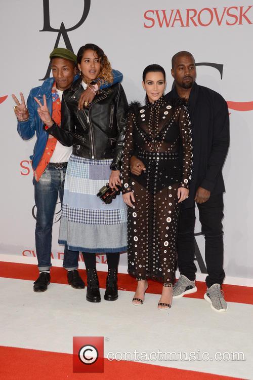 Pharrell Williams, Helen Lasichanh, Kanye West and Kim Kardashian 4