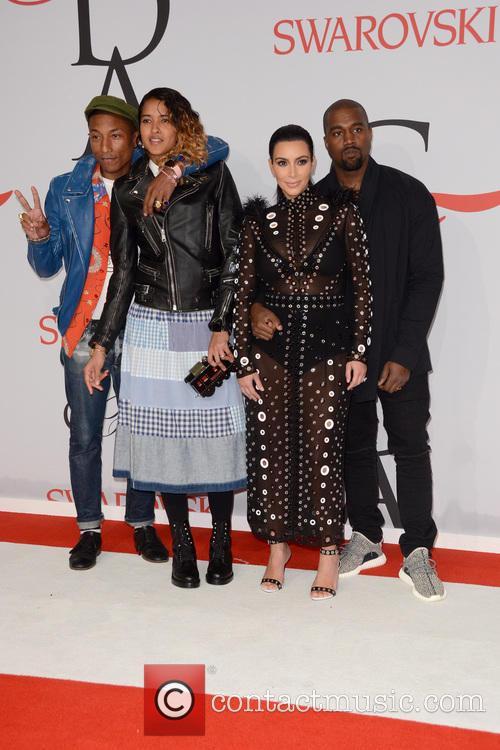 Pharrell Williams, Helen Lasichanh, Kanye West and Kim Kardashian 5