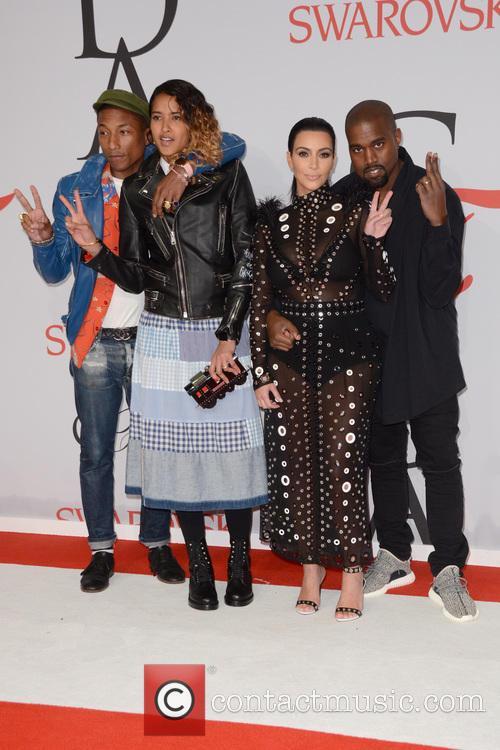 Pharrell Williams, Helen Lasichanh, Kanye West and Kim Kardashian 1