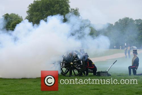 Coronation Day 41 Gun Salute in Hyde Park