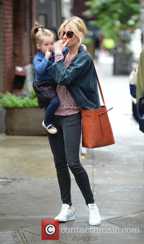 Sienna Miller and daughter Marlowe out and about...