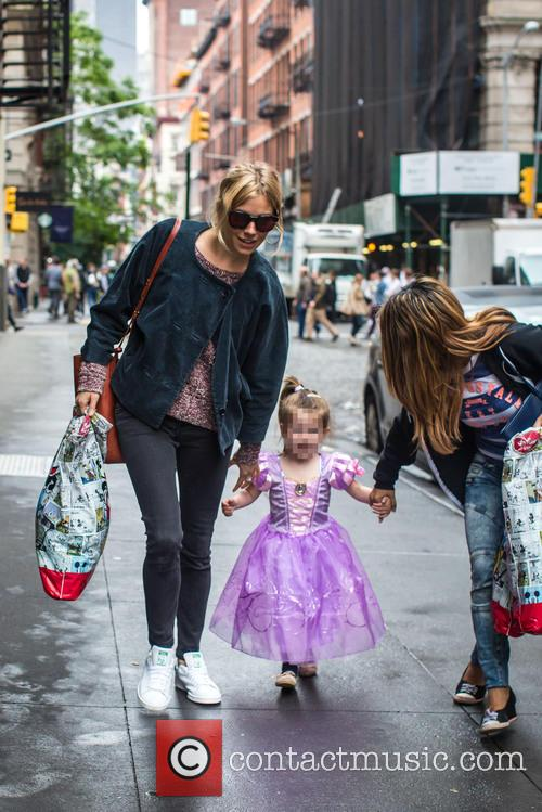 Sienna Miller out shopping with Marlowe in NYC