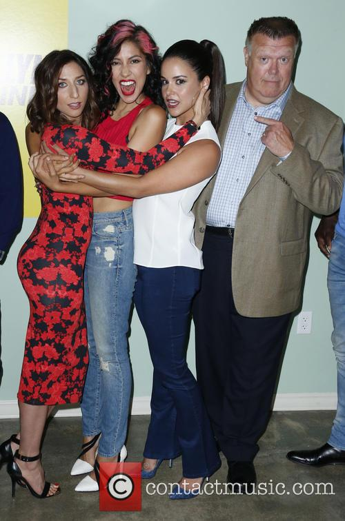 Chelsea Peretti, Stephanie Beatriz, Melissa Fumero and Joel Mckinnon Miller 8