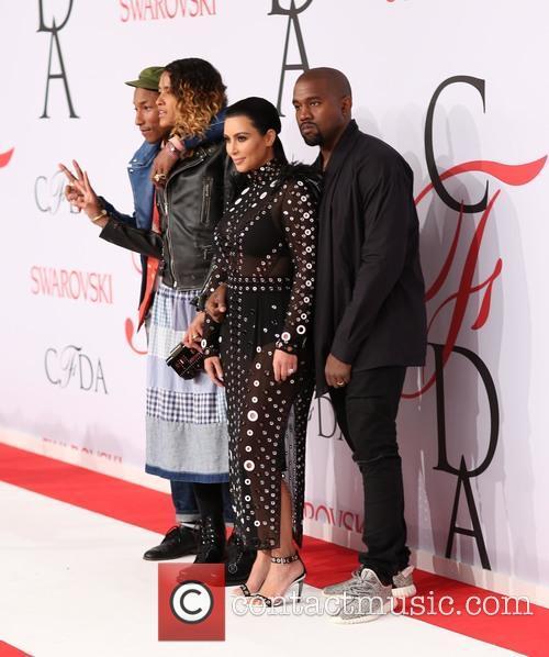 Pharrell Williams, Helen Lasichanh, Kim Kardashian and Kanye West 3