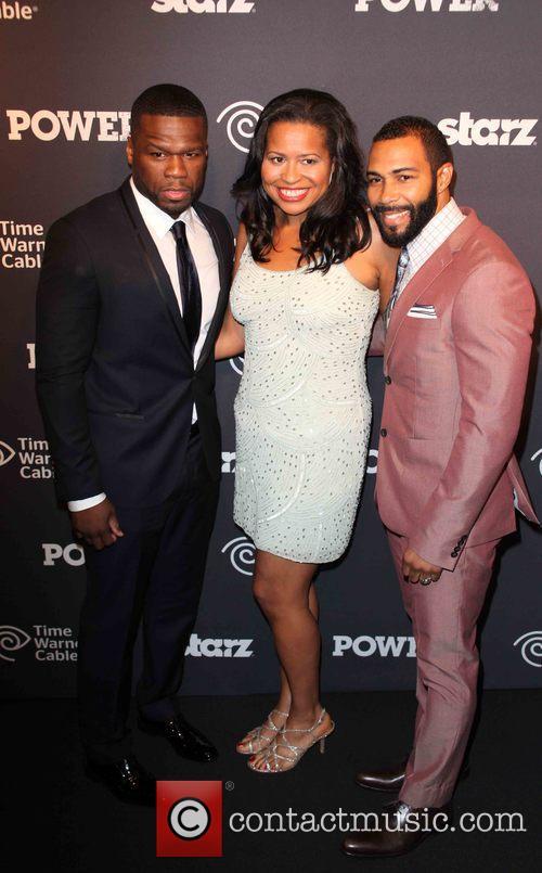 Curtis 50 Cent Jackson, Courtney Kemp Agboh and Omari Hardwick 4