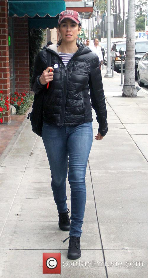 Sarah Silverman out and about running errands