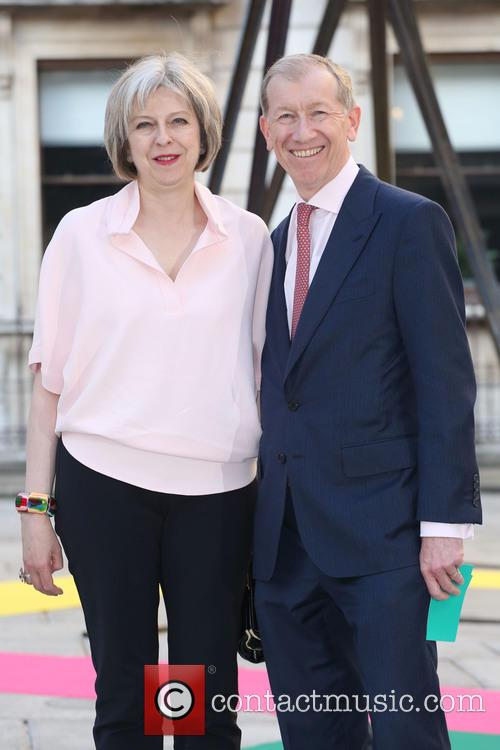 Theresa May and Philip John May 1
