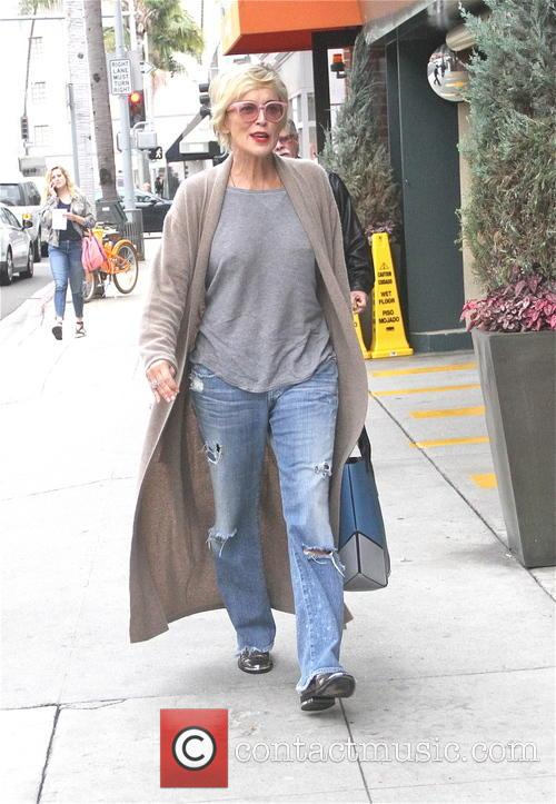 Sharon Stone arrives at Beverly Hills Nail Design...