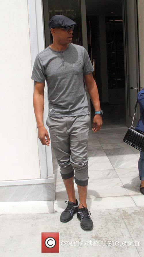 Caron Butler goes shopping in Beverly Hills