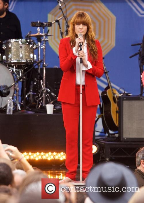 Florence and the Machine performing live in concert