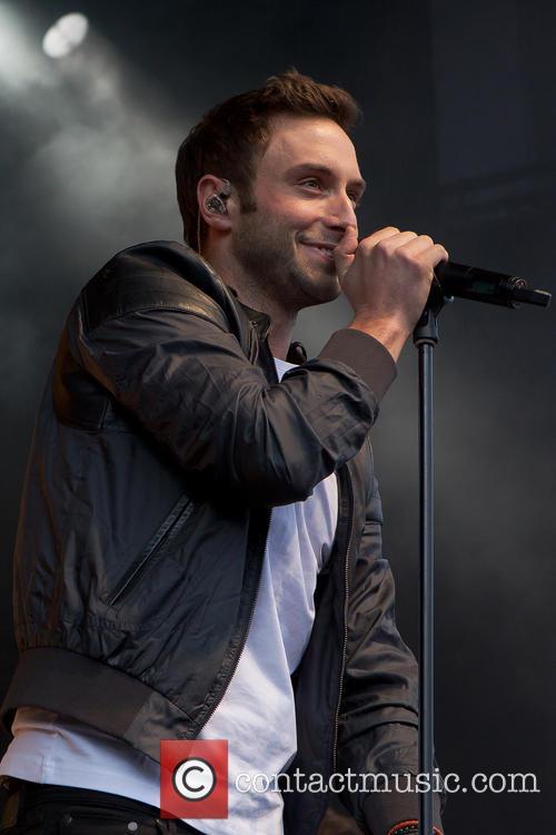 Eurovision winner Mans Zelmerlow performing live