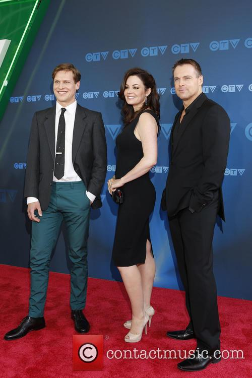 Max Bennett, Erica Durance and Michael Shanks