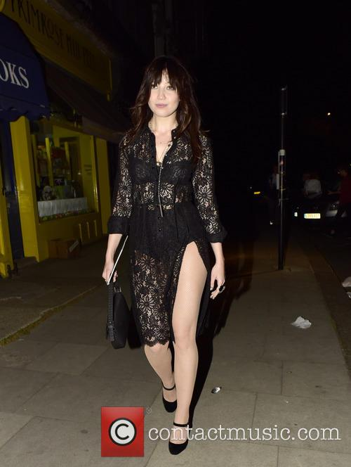 Pixie Geldof and Daisy Lowe leaving Odette's