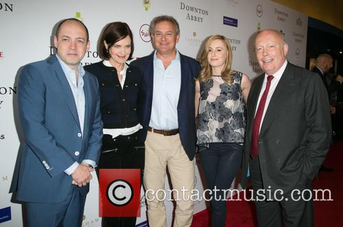 Gareth Neame, Elizabeth Mcgovern, Hugh Bonneville, Laura Carmichael and Julian Fellowes 6