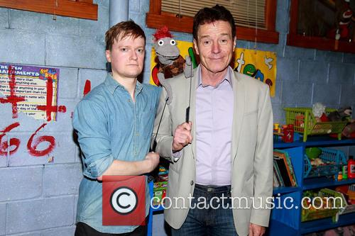 Steven Boyer, Tyrone The Demonic Puppet and Bryan Cranston 2