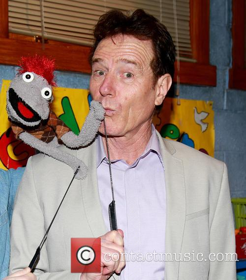 Bryan Cranston visits the cast of the Broadway...