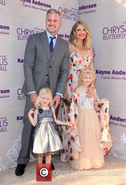 Eric Dane, Butterfly Ball Co-chair Rebecca Gayheart-dane, Daughter Georgia Dane and Daughter Billie Beatrice Dane 1