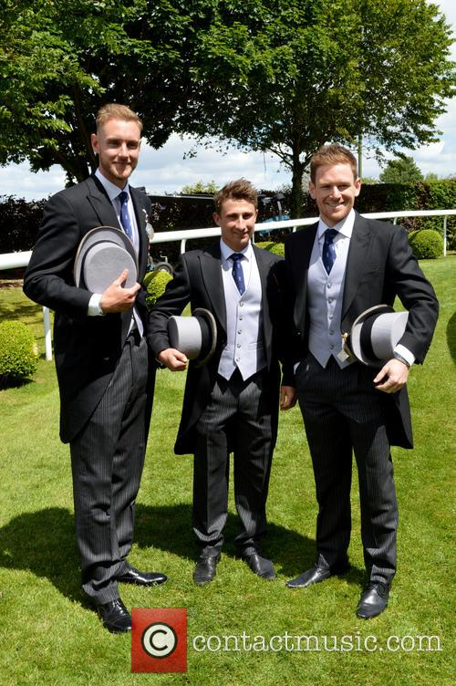 James Taylor, Eoin Morgan and Stuart Broad 3