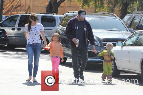 Ben Affleck, Jennifer Garner, Seraphina Affleck and Samuel Affleck 3