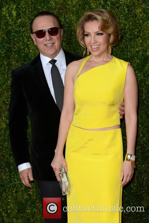 Tommy Mottola and Thalía 2