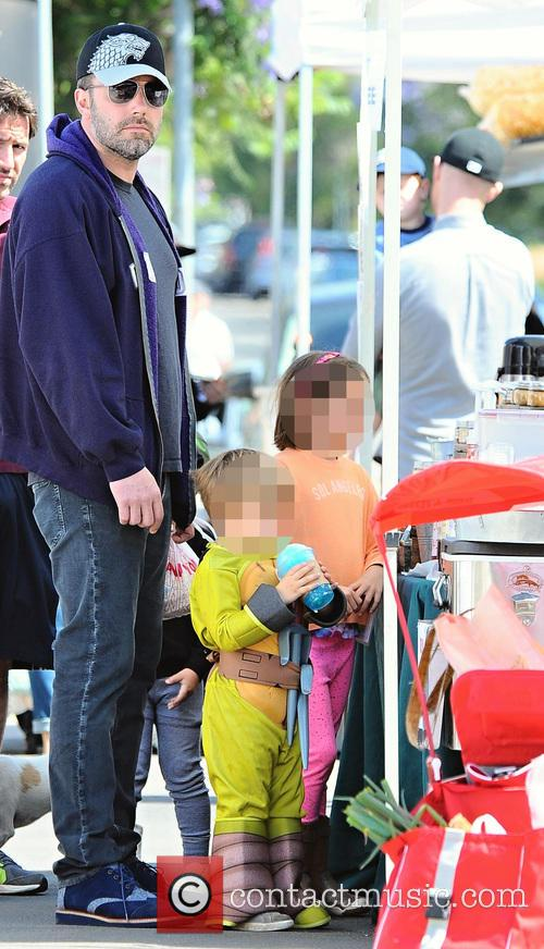 Ben Affleck, Seraphina Affleck and Samuel Affleck