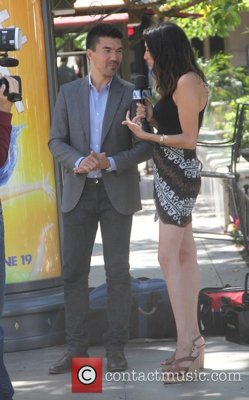 Ian Anthony Dale being filmed at The Grove