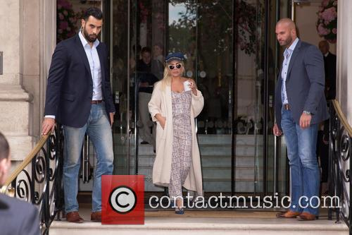 Lady Gaga out in London