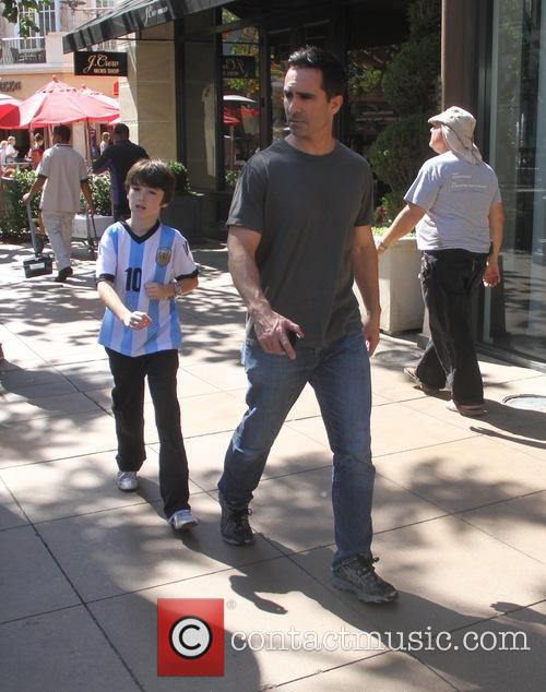 Nestor Carbonell takes his son shopping at The...