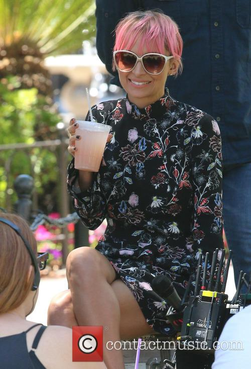 Nicole Richie  filming her show 'Candid Nicole'...